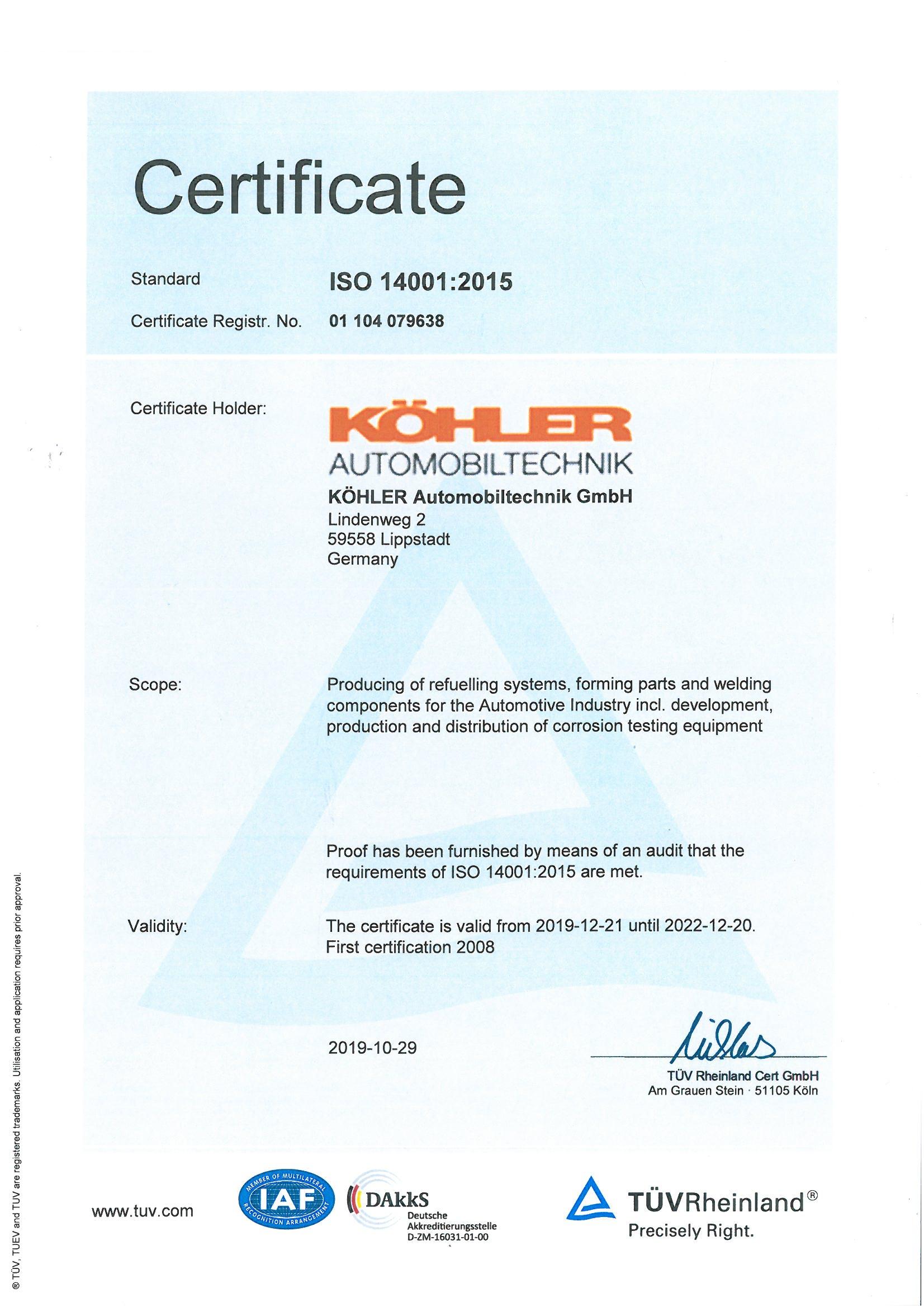 Köhler Lippstadt köhler auto quality management